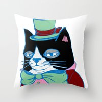 Dignified Cat Does Paste… Throw Pillow