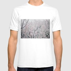Winter Snow  Mens Fitted Tee White SMALL