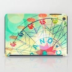 Panoramic carnival ferris wheel iPad Case