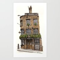 Cheshire Cheese, London Art Print