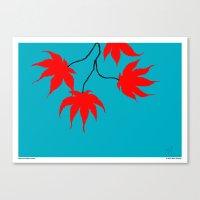 Japanese Maple Leaves Canvas Print
