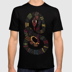 Geo Snakes Lead Mens Fitted Tee Black SMALL