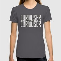 Curiouser And Curiouser Womens Fitted Tee Asphalt SMALL
