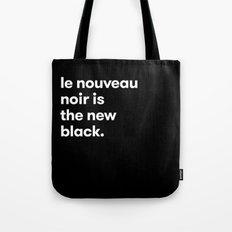 Le Nouveau Noir Tote Bag