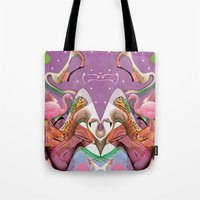 FLAMINGO ACID TRIP  Tote Bag