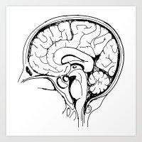 Brain Art Print