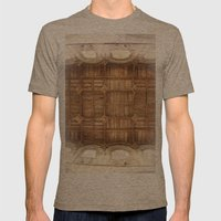 Wooden church ceiling  Mens Fitted Tee Tri-Coffee SMALL