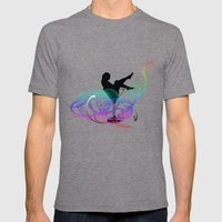 Dreaming Kids Mens Fitted Tee Tri-Grey SMALL