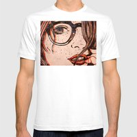 LE REGARD Mens Fitted Tee White SMALL