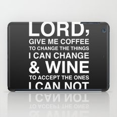 Lord give me wine iPad Case