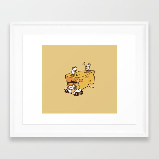 Par Cheesy Framed Art Print
