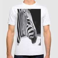 b&w zebra Mens Fitted Tee Ash Grey SMALL
