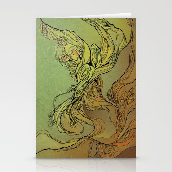 abstract floral composition Stationery Card