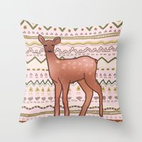 I Deer You to Dream Throw Pillow