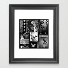 Crow And Lace Framed Art Print
