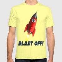 Blast Off! Mens Fitted Tee Lemon SMALL