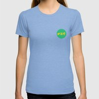 year3000 - Yellow/Green Logo Womens Fitted Tee Tri-Blue SMALL