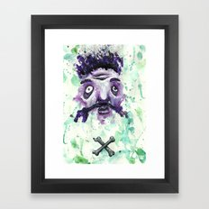 Bones crossed Framed Art Print