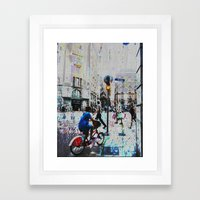 A balance between we and they but the as yet I, 14 [version] Framed Art Print