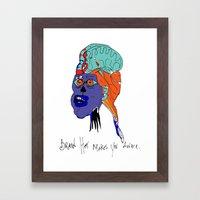 Brain Hat makes your aware. Framed Art Print