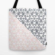 Black and Pink Crop Symmetry Tote Bag