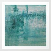 Aqua Plunge Art Print