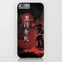 iPhone & iPod Case featuring Black Samurai Red Death by Tyler Bramer