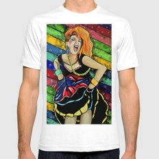 True Colors- Cyndi Lauper  Mens Fitted Tee White SMALL
