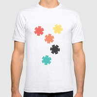 #21 Poker Chips Mens Fitted Tee Ash Grey SMALL