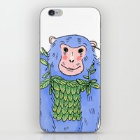Peachtree The Chimp in Blue iPhone & iPod Skin