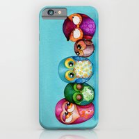 Fabric Owl Family iPhone 6 Slim Case