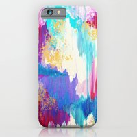 SWEET DREAMS - Lovely Bright Soft Pastel Modern Abstract Fun Nursery Ombre Design Acrylic Painting iPhone 6 Slim Case