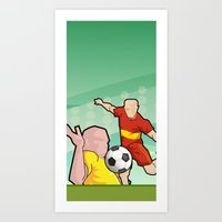Soccer Game Art Print