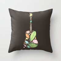 Let your Guitar Sing B-Side Throw Pillow