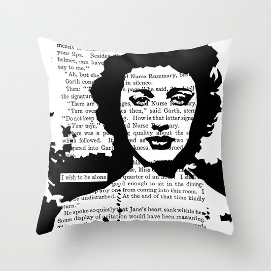 I Wish to be Alone Throw Pillow
