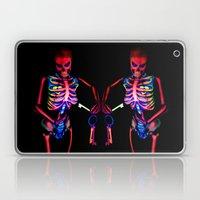 Black Light Skeleton  Laptop & iPad Skin