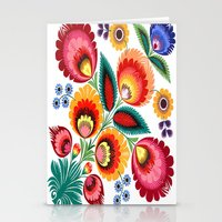 Slavic Folk Pattern Stationery Cards