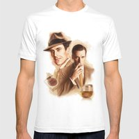 MAD MEN DON DRAPER Mens Fitted Tee White SMALL