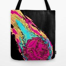 dinosaur asteroid Tote Bag