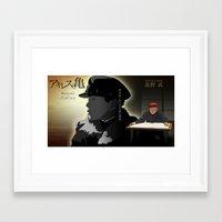 Achilles and the tortoise Framed Art Print