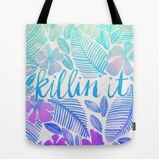 Killin' It – Turquoise + Lavender Ombré Tote Bag