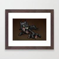 ZOMBIE BAT Framed Art Print
