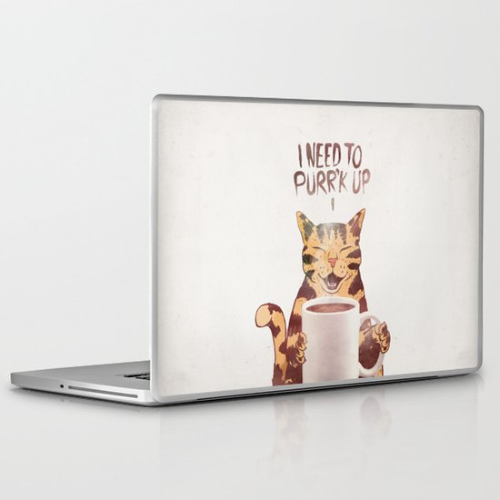 I NEED TO PURR'K UP Laptop & iPad Skin