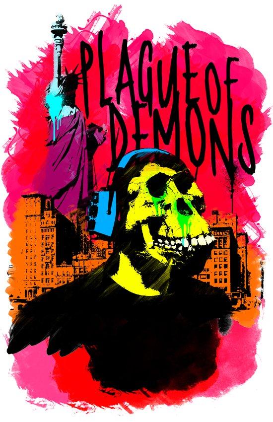 Plague of demons Art Print