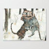 Tigers at Play Canvas Print