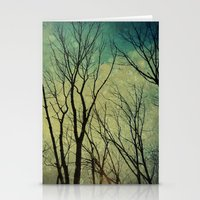Reaching for the Sky: Blue/Green Stationery Cards