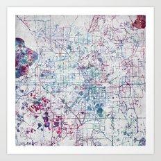 Orlando Map Art Print
