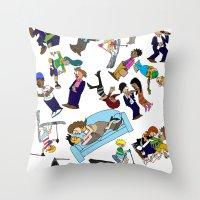 2013 Cartoons 1 Throw Pillow
