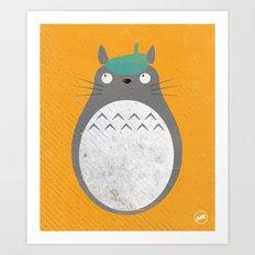Homenaje a Totoro Art Print