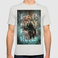 ASTRO Mens Fitted Tee Silver SMALL
